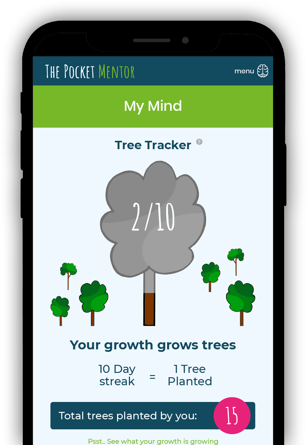 Your growth grows trees!